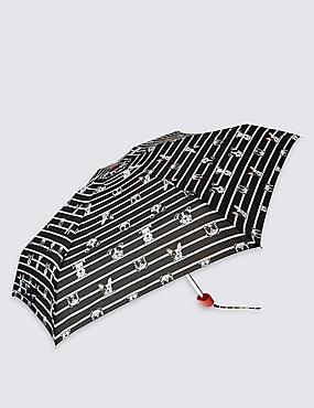 Compact Umbrella with Stormwear™ & FLEXIRIB™, BLACK MIX, catlanding