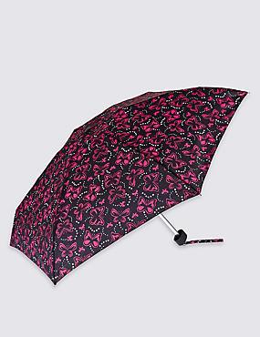 Butterfly Spots Compact Umbrella with Stormwear™, BLACK MIX, catlanding