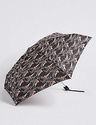 Printed Umbrella with Stormwear™, BLACK MIX, catlanding