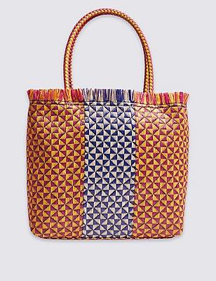 Shopper Bag, BRIGHT PINK MIX, catlanding