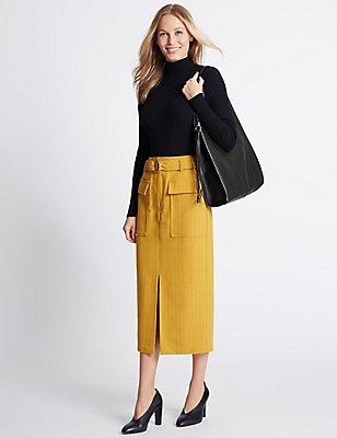 Faux Leather Sling Hobo Bag, BLACK, catlanding