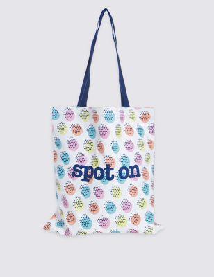 Сумка шоппер из чистого хлопка с графикой-принтом