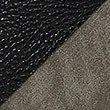 Faux Leather Tie Side Shopper Bag, KHAKI MIX, swatch