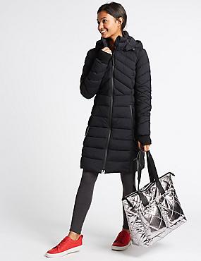 Quilted Shopper Bag with Stormwear™, METALLIC, catlanding