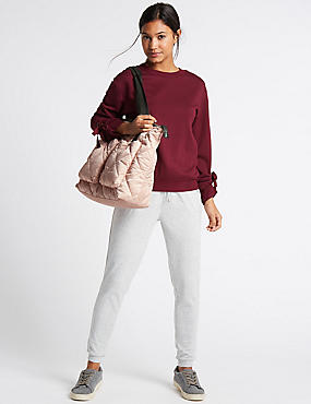 Quilted Shopper Bag with Stormwear™, PALE PINK, catlanding