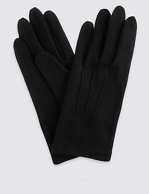 Jersey Gloves, BLACK, catlanding
