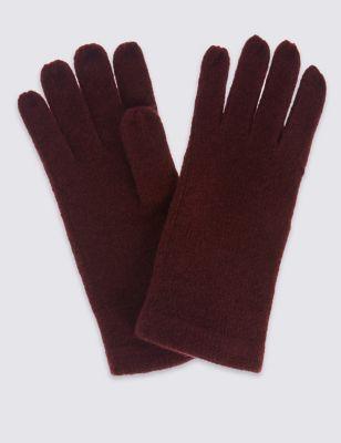 Однотонные вязаные перчатки