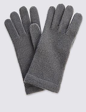 Knitted Gloves, SLATE, catlanding