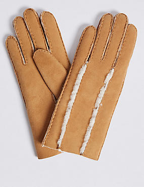 Leather Gloves, TAN, catlanding