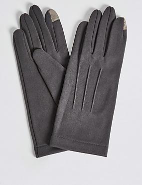 Gants en jersey pour écran tactile, GRIS, catlanding
