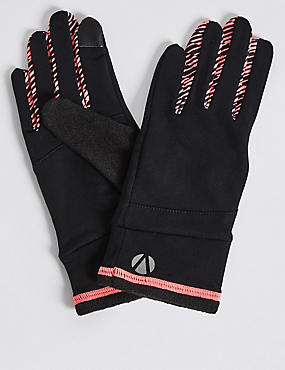 Printed Running Gloves, BLACK MIX, catlanding