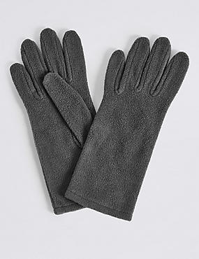Fleece Gloves, GREY, catlanding