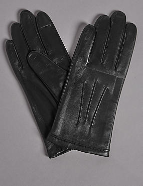 Water Repellent Gloves, BLACK, catlanding