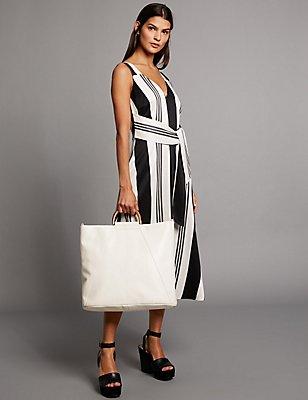 Pure Leather Shopper Bag, , catlanding