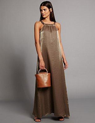 Pure Leather Shoulder Bag, CONKER, catlanding