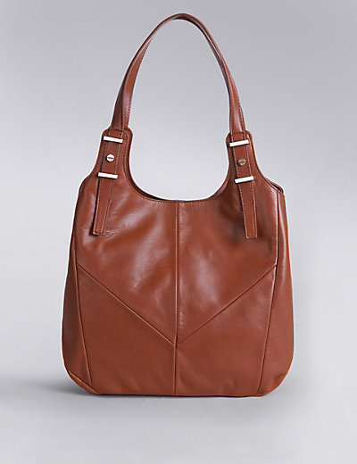Leather Shoulder Bag | M&S