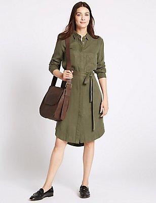 Pure Leather Clean Saddle Shoulder Bag, , catlanding