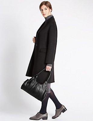 Pure Leather Apron Shoulder Bag, , catlanding
