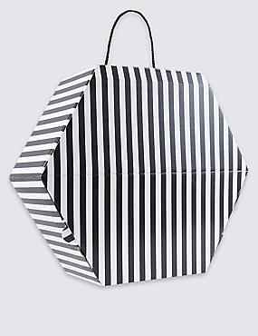 Monochrome Striped Hat Box, BLACK MIX, catlanding
