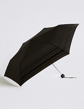 Circle Striped Umbrella with Stormwear™, BLACK MIX, catlanding