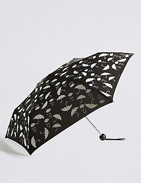 Colour Changing Umbrella with Stormwear™, BLACK MIX, catlanding