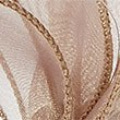 Faux Feather Bow Fascinator, GOLD, swatch