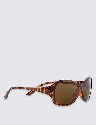 Tinted Oval Sunglasses, BROWN MIX, catlanding