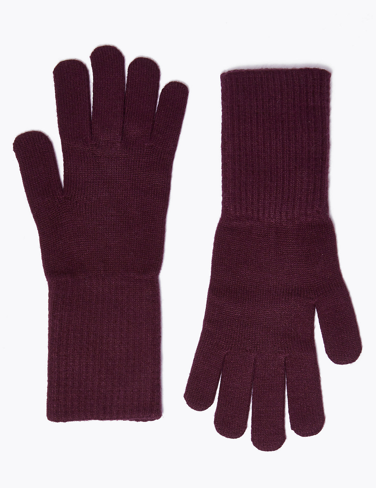 Вязаные перчатки с длинной манжетой