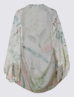 Pure Modal Botanical Print Cocoon Wrap