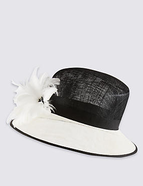 Faux Feather Fascinator Hat