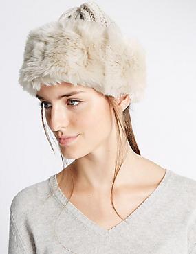 Knitted Winter Hat , CREAM, catlanding