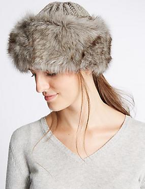 Knitted Winter Hat , GREY, catlanding