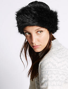 Knitted Winter Hat , BLACK, catlanding