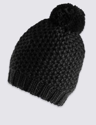 Текстурная шапка с помпоном M&S Collection T014088F