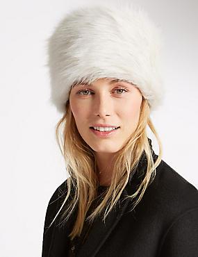 Faux Fur Cossack Hat, CREAM, catlanding