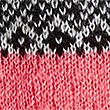 Fairisle Scarf & Gloves Set, CORAL MIX, swatch