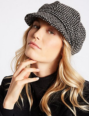 Chapeau style casquette, NOIR ASSORTI, catlanding
