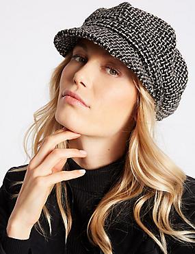 Baker Boy Hat, BLACK MIX, catlanding