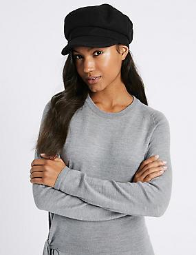 Captain Winter Hat, BLACK, catlanding