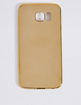 Samsung S6 Metallic Phone Case, GOLD, catlanding