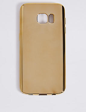 Samsung S7 Metallic Phone Case, GOLD, catlanding