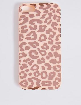 iPhone 5/5S Animal Print Phone Case, PINK, catlanding