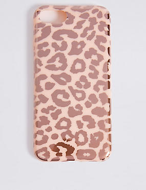 iPhone 7 Animal Print Phone Case, PINK, catlanding