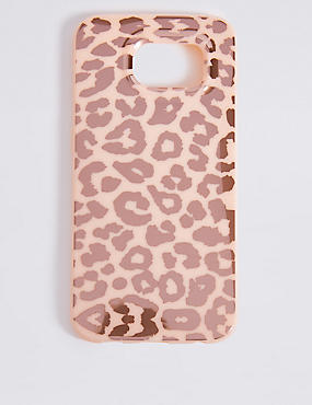 Samsung S6 Animal Print Phone Case, PINK, catlanding