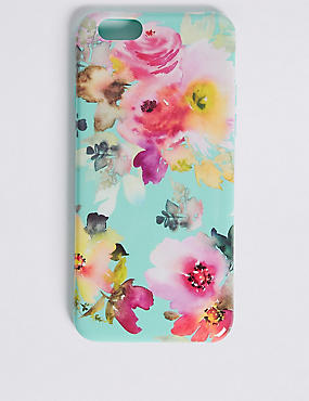 iPhone 6/6s Floral Print Phone Case, GREEN, catlanding