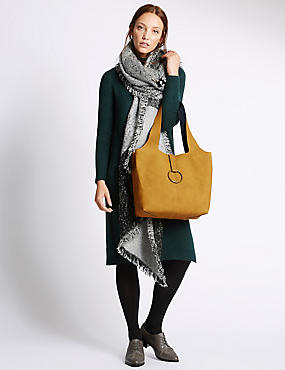 Slouch Hobo Handbag, OCHRE, catlanding