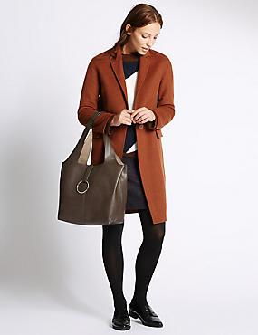 Slouch Hobo Handbag, CHOCOLATE, catlanding