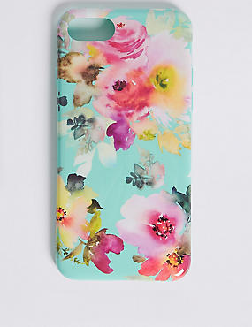 iPhone 7 Floral Print Phone Case, GREEN, catlanding