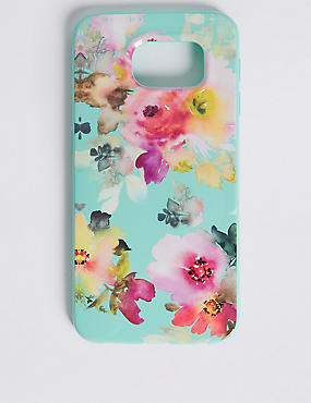 Samsung S6® Floral Print Phone Case, GREEN, catlanding