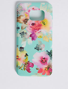 Samsung S7® Floral Print Phone Case, GREEN, catlanding